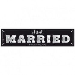 "Plaque d'immatriculation ""Just Married"""